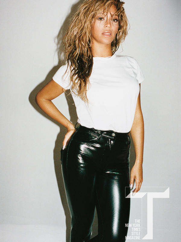 beyonce covers t magazine see the divas casual bed