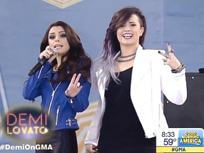 "Demi Lovato And Cher Lloyd Team Up For ""Really Don't Care"" On 'Good Morning America': Watch"
