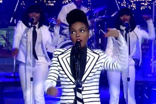 "Janelle Monae Covers David Bowie's ""Heroes"" Live For The First Time On 'Letterman': Watch"