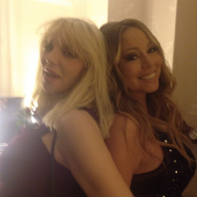 Courtney Love Mariah Carey Instagram photo