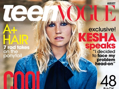 Kesha Stuns On The Cover Of 'Teen Vogue', Opens Up About Her Eating Disorder And Rehab Stint