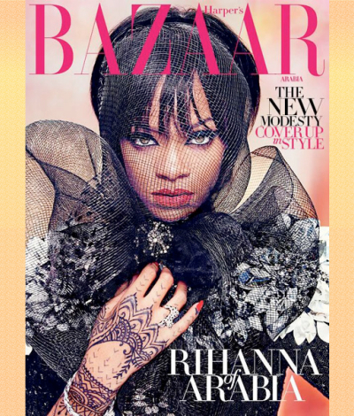 Rihanna Harpers Bazaar Arabia July August 2014 cover sexy