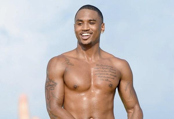 Trey Songz shirtless