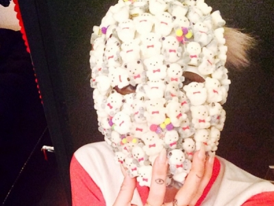 Miley Cyrus Skips Porn & Boobs (For A Change), Posts Slightly Scary Face-Covered Pics On Instagram: 7 Photos