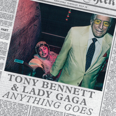 Tony Bennett Lady Gaga Anything Goes single cover art
