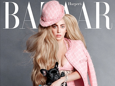 Lady Gaga And Her Adorable Dog Asia Cover The September Issue Of 'Harper's Bazaar': See The Pics