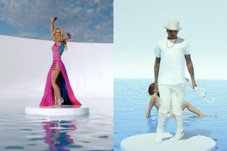 """Chris Brown Borrows Britney's """"Work Bitch"""" Pool For His """"New Flame"""" Video: Watch"""