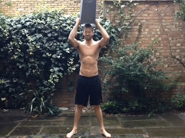 Calvin Harris shirtless naked nude ice bucket challenge ALS