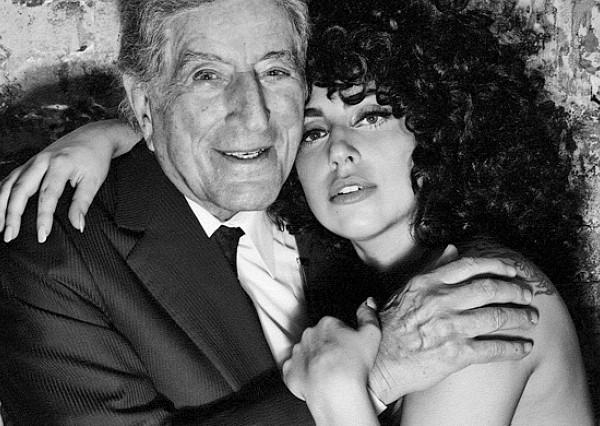 Tony Bennett Lady Gaga black and white