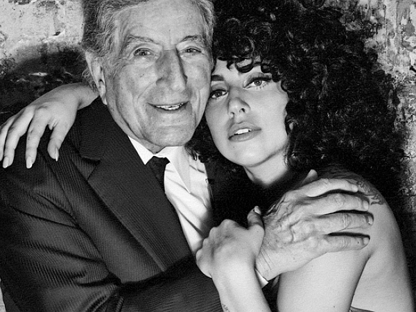 Tony Bennett Lady Gaga black and white