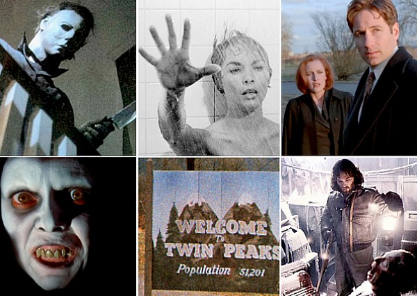 Horror movies tv shows halloween exorcist psycho x files twin peaks thing