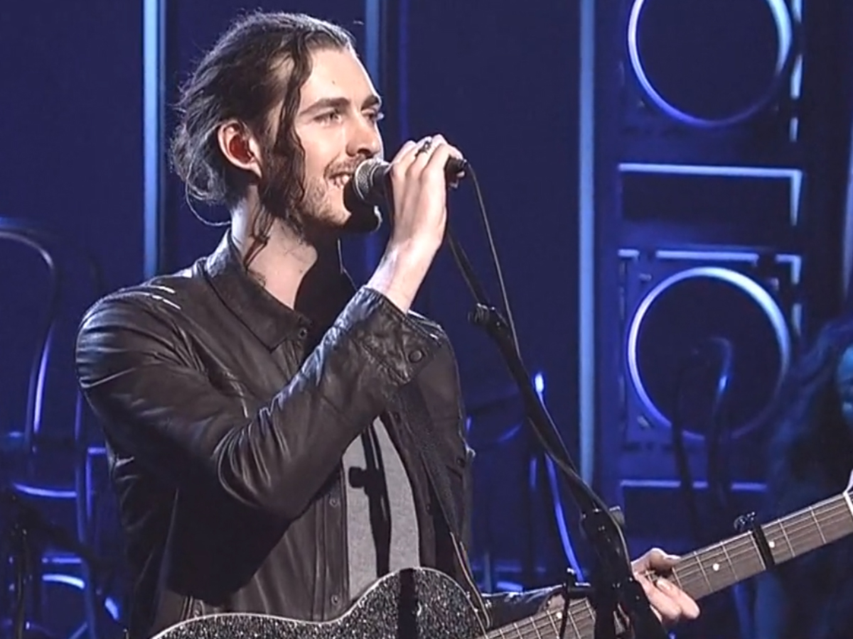 Hozier performs take me to church and angel of small death