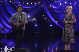 """Pink And Dallas Green (You + Me) Perform """"You And Me"""" On 'The Ellen DeGeneres Show': Watch The Folk Duo In Action"""