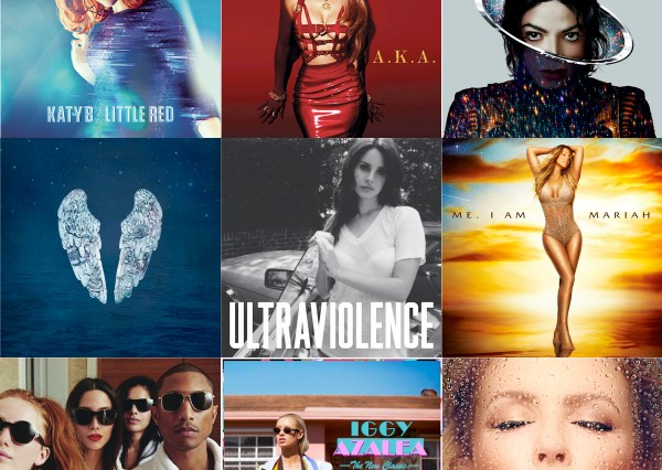 Idolator Best Albums 2014 Readers Poll Katy B JLo Michael Jackson Coldplay Lana Del Rey Mariah Carey Pharrell Iggy Azalea Kylie Minogue