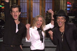 Bruno Mars & Mark Ronson Get Cameron Diaz Annoyed In 'Saturday Night Live' Promo Clip: Watch