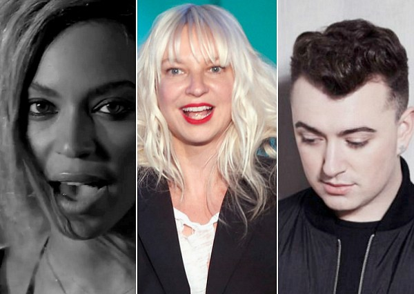 Beyonce Sia Sam Smith 2015 Grammy nominations