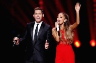 "Ariana Grande & Michael Bublé  Duet On ""Santa Claus Is Coming To Town"": Watch"