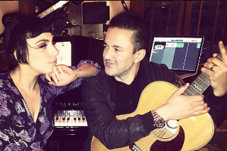 Lady Gaga Reunited With RedOne In The Recording Studio Last Night: See The Pic