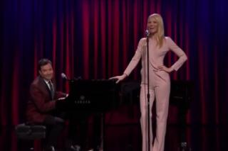 Gwyneth Paltrow Sings Broadway Versions Of Nicki Minaj, Drake And Big Sean On 'Jimmy Fallon': Watch