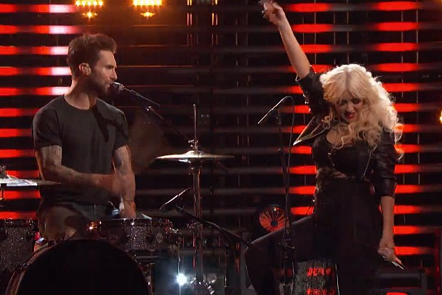 Adam Levine Christina Aguilera The Voice 2015 Are You Gonna Go My Way