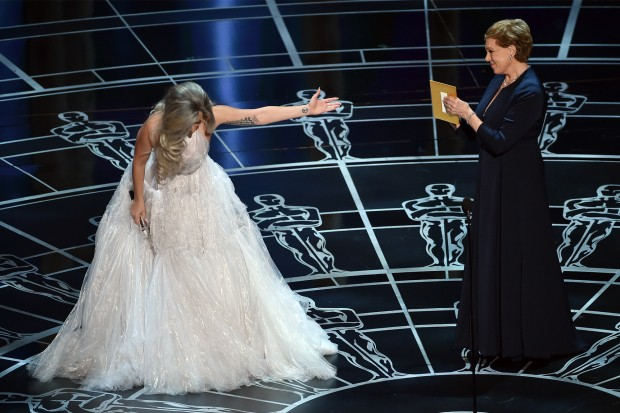 Lady Gaga Julie Andrews Oscars Academy Awards Sound Of Music 2015