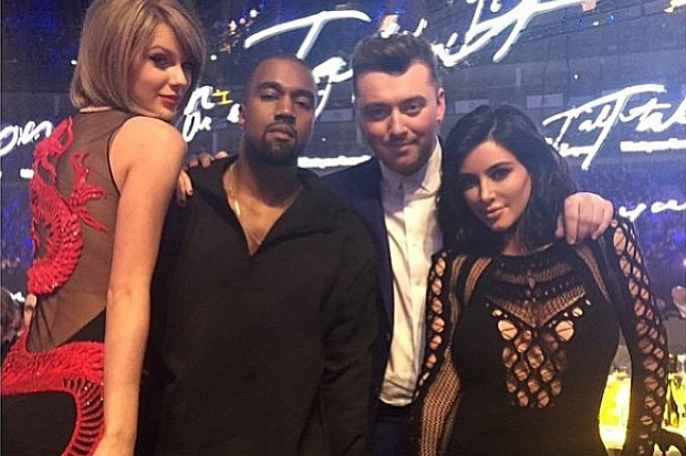 Taylor Swift Kanye West Sam Smith Kim Kardashian 2015 BRIT Awards