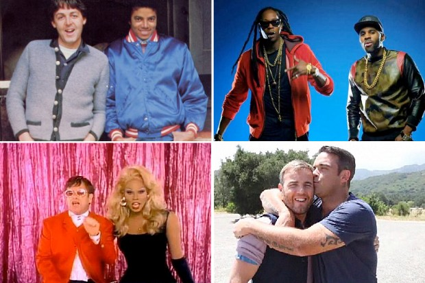 Male duets michael jackson paul mccartney 2 chainz jason derulo gary barlow robbie williams