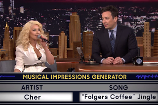 Christina Aguilera Does Impressions Of Britney Spears, Cher And Shakira On 'The Tonight Show': Watch