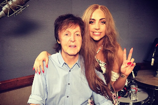 Paul McCartney Joins Lady Gaga In The Recording Studio: See The Pics