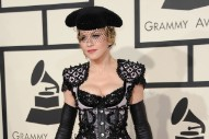 Madonna Shakes Boobs On 2015 Grammys Red Carpet, Praises Taylor Swift: Watch