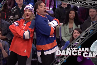 Taylor Swift And Jimmy Fallon Are Complete Dorks In Jumbotron Dancing Sketch: Watch