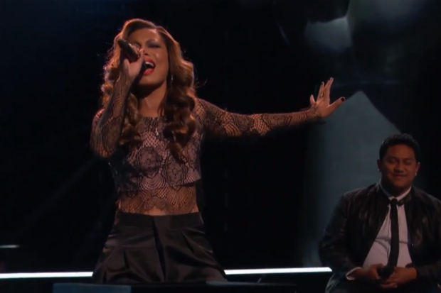 India Carney The Voice Knockout Big White Room Jessie J 2015