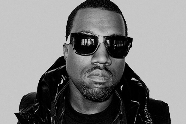 Kanye West sunglasses black jacket black and white