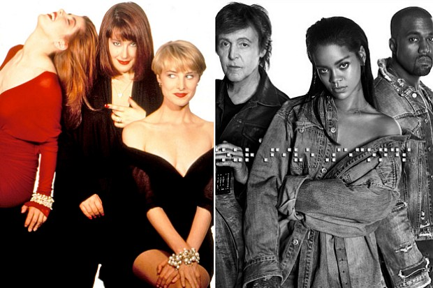 Wilson Phillips Rihanna Kanye West Paul McCartney FourFiveSeconds