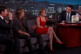 Jennifer Lopez, Keith Urban and Harry Connick Jr. Talk First Concerts And Try Peeps Milk On 'Jimmy Kimmel Live': Watch