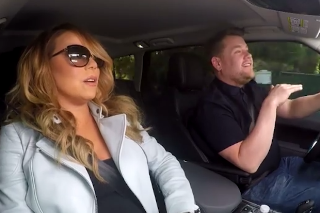 Mariah Carey And James Corden Sing Along To Her Hits Inside A Car On 'The Late, Late Show':