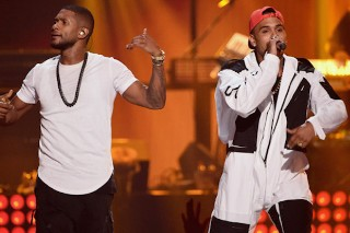 "Usher & Chris Brown Team Up On ""All Falls Down"": Listen"