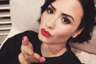 Demi Lovato Accused Of Defacing Tattoo Artist's Toilet, She Really Doesn't Care