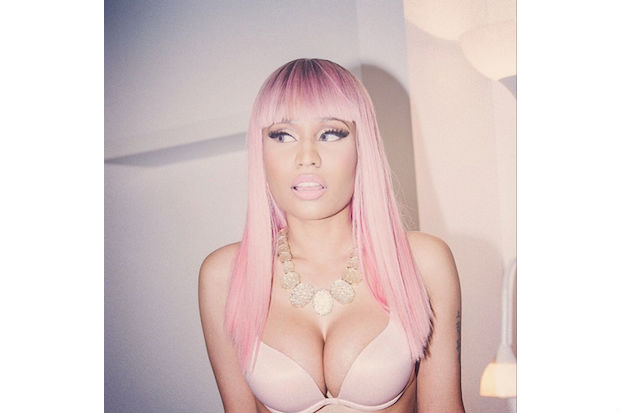 Nicki Minaj Pink Crimped Wig 30