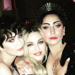 Madonna, Lady Gaga & Katy Perry Pose At Met Gala