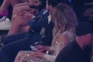 Watch Jennifer Lopez Stare At Her Phone During Mariah Carey's Performance At The BBMAs