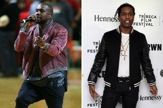 Kanye West Reportedly Produced A Track On A$AP Rocky's Album