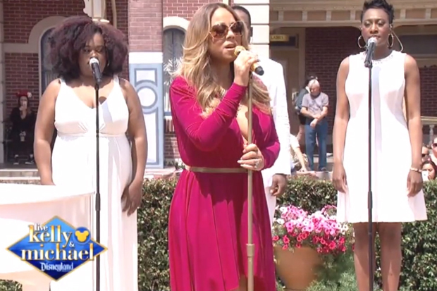 "Mariah Carey Performs ""Vision Of Love""/""Infinity"" Medley At Disneyland: Watch"