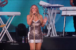 "Mariah Carey Performs ""Vision Of Love"" & ""Infinity"" On 'Jimmy Kimmel Live': Watch"
