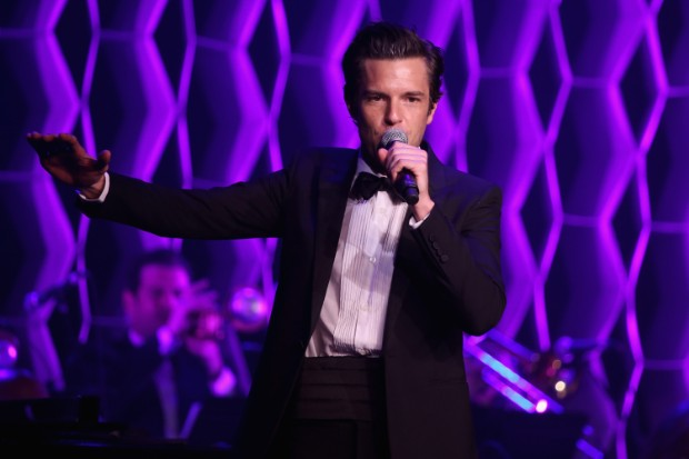 brandon flowers live perform tux 2015
