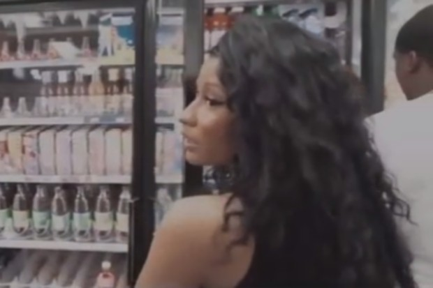nicki minaj meek mill trillest shopping convenience store gas station