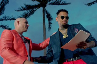"Pitbull And Chris Brown Spoof 'Miami Vice' In Their Extremely ""Fun"" Video: Watch"