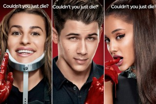 Nick Jonas, Ariana Grande And Lea Michele Get Bloody For 'Scream Queens' Promo Pics