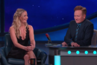 "Jennifer Lawrence Impersonates Cher's ""Believe"" On 'Conan': Watch"