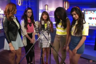 """Throwback Thursday: Watch Fifth Harmony Cover Taylor Swift's """"Red"""" In The Idolator Office"""